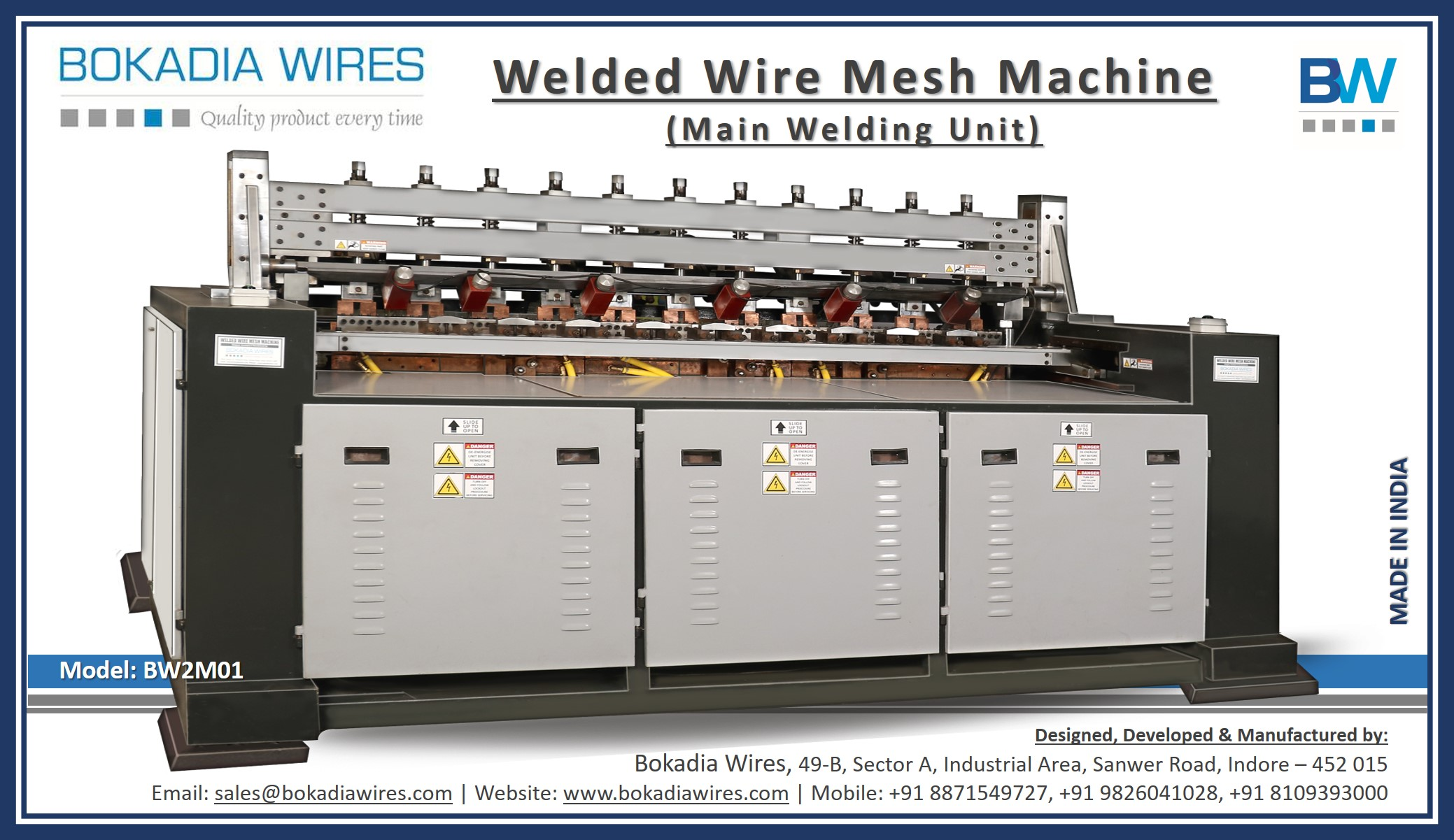 Main Welding Unit (Model: BW2M01)